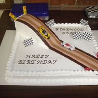 Birthday / Pinwood Derby Cake   This is another picture of my son's Birthday / Pinewood Derby Cak