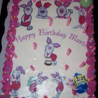 Piglet my sister collects piglet, so i made her a cake