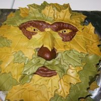 Green Man   devils food with peppermint buttercream,covered in chocolate mmf, leaves are mmf, tfl