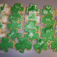 Shamrock Cookies   nfsc with peppermint royal icing, yet another attempt at cookie decorating, getting better, tfl