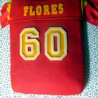 Usc Jersey   USC Jersey cake for my FIL, who is a huge fan and turning 60.