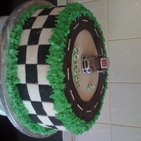 Mini Cooper Race Cake  my sons birthday cake, thanks to MariaLovesCakes, for the insperation and allowing me to do a version of her cars cake, unfortunatly im a...