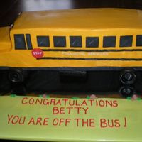 Retirement School Bus Cake 3 layers carved. thanks for looking
