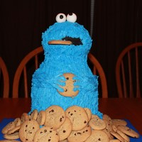Cookie Monster Thanks to everyone who did the cookie monster cakes on here.