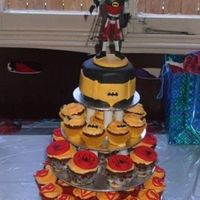 Super Hero Cake - Batman And Friends