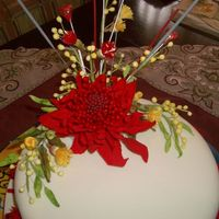 Australian Flowers Birthday Cake