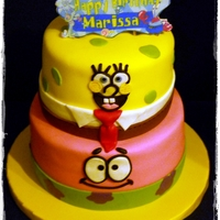 Spongebob And Patrick I loved doing this cake - it actually *almost* turned out like I pictured it!!! Yay!!!! Basic cake flavors (chocolate and vanilla) with...