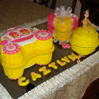 Princess Cake Made this one for a 4 year old girl that loves princess. carriage is vanilla cake with chocolate filling , doll it's just cake and the...