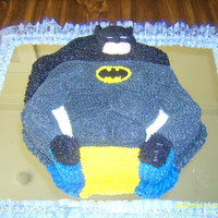 Batman Butter cream , Vainilla with chocolate filling.