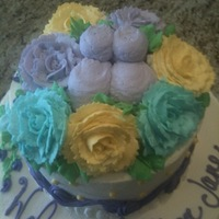 Baby Shower Frosting and all decorations are done in whip cream. Thanks for looking