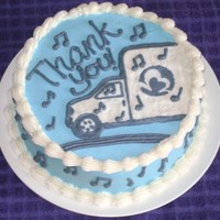 Thank You Cake My husband *finally* got management to put a stereo in his work truck so he doesn't have to drive in monotony all day long. We made...
