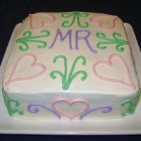 Mr Square Cake This was for my mom's birthday. It was my first time doing a square cake, and I won't do a square one again until I get good...