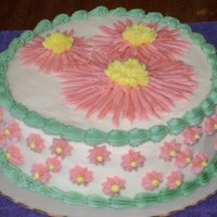 Daisy Cake For Auction A friend was organizing an auction for the non-profit she works for and asked me to donate a cake. After dinner at the auction was the &#...