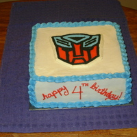"Transformers Cake I made this cake for a friend's son's birthday party. I used the technique called ""frozen buttercream transfer"" that I..."