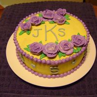 5 Year Anniversary My first 'comissioned' cake. I was nervous, but they were pleased! I couldn't charge her, though. I'm just not...