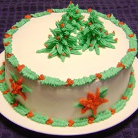 Last-Minute Christmas Cake I decided on Christmas Eve that it would be really fun to make a cake to take with us to my parents' house as a surprise. After it...