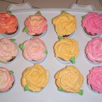 Rose Cupcakes I madE these for the rose society lunchon 2 dozen, she paid me $55 was that good?