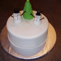 Snowman Cake Cake I made for my husband to take to work.