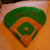 Baseball Feild This cake is on a 3x5 peice of plywood, all buttercreme. the bases are airheads.