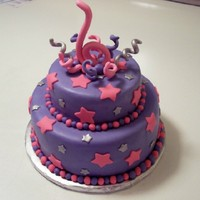 Pink & Purple Star Cake This cake gave me all sorts of problems. I had bubbles in the fondant that I did not see untill I flipped it on to the cake, I really dont...