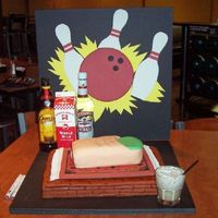 The Big Lebowski Cake This cake was inspired by the one Duff did for the Lebowskifest. The ball and pins are gum paste, the toe was WASC cake tinted red with a...