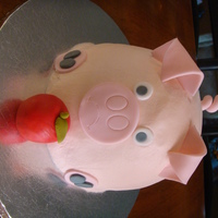 And This Little Piggy Went To The Pig Roast... Dark chocolate fudge cake covered in BC with MMF accents