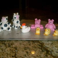 Fondant Farm Animals First time using MMF! Inspired by all the wonderful pics here on CC!!