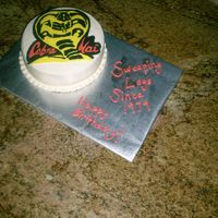 "Karate Kid Cake   For a friend's 30th birthday. His favorite movie is ""The Karate Kid"" First FBCT!"