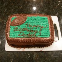 Football Fan Cake  I made this cake for my dad who, as you can see, is a big football fan! All I did was make one thing of cake batter, put it in two small...