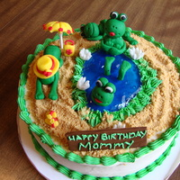 Frogs In The Beach I made this cake for my mom's birthday, since she loves frogs. I had a little trouble with the frogs and the humdity since I live in...