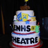 Theater Banquet Cake The top of the top tier is in honor of our spring play: Moon Over Buffalo. The moon over the buffalo looks exactly like it does on the...