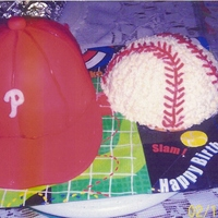 Baseball Cap I made this cake for my son's birthday. He is an avid Phillies fan. The cake was chocolate with chocolate mousse filling covered in...