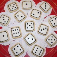 Dice Cookies NFSC with Antonia's RI...some quick cookies to go with the cake I made for my Mom's bunco-bunko (sp?). She liked them...still...