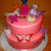 Butterfly Cake i made this cake for my cousin who wanted a nice cake for her god daughter.