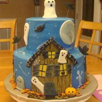 Halloween Night Iced in B.C with fondant decorations