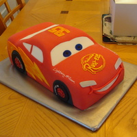 Kachow!!! All yellow cake with buttercream icing...MMF covered and decorated. Used 2 12x18 layers and carved out the shape. Thanks for Looking!