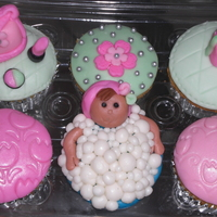 Relax And Enjoy Cupcakes.. Cupcakes for a friend, girl taking a hot bath, hand bag, lipstick :)