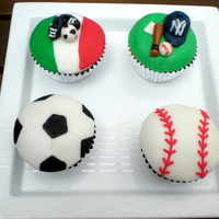 Sports Cupcakes Cupcakes for a sports fan...