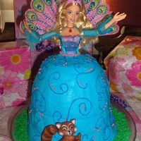 Barbie Island Princess Cake