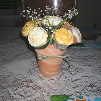 Cupcake Bouquet Made this for my hubby's work. They were having a fundraiser for a ill employee. I think it fetched about $65.......My first attempt...