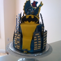 Batman Cake I made this cake for my nephews 4th birthday, he was very specific on wanting a batman cake. This was a marble cake with cookies and cream...