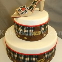Burberry Bag Inspired Fashion Birthday Cake This bag was done for a woman that loves Burberry and the plaid, and of couse loves shoes. We received pictures of her bag to add some...