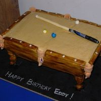 Stand Up Pool Table The cake was iced in BC...then fondant on the sides and over the dowel legs. Balls are gumballs w/ gumpaste for the circle and painted w/...