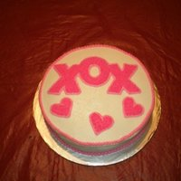 Valentine's Day Cake Buttercream icing
