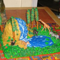 Jungle Cake My son loves animals, so i made this cake for his seventh birthday. I have never taken any classes this is all on my own. I had fun with it...