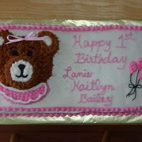 First Birthday Cake I made this cake for my daughter and 2 of her friends - all 3 girls were born within 3 weeks of each other.