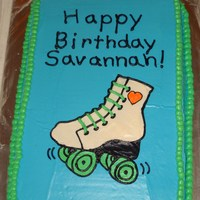 Roller Skate Cake Made for my daughter's 11th bday. Held at the skating rink. All buttercream.