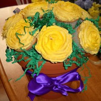 Cupcake Bouquet Made for an engagement party. My first shot at a cupcake bouquet.