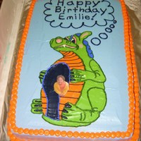 Dragon Ride Cake Made for my niece's 5th b-day. Carnival theme. The dragon is her favorite carnival ride. I put her in the ride by printing/laminating...