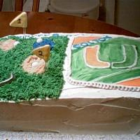 Football / Golf Birthday Cake This was made for a little boy that likes football and golf.
